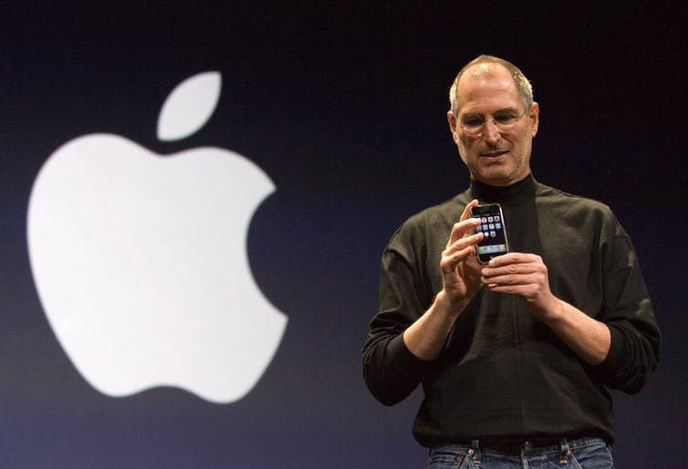Holmes was compared to Apple's Steve Jobs