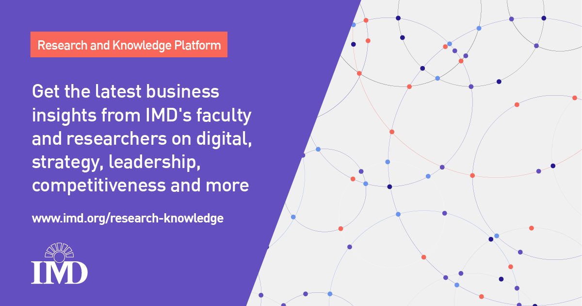 Research and knowledge from IMD business school