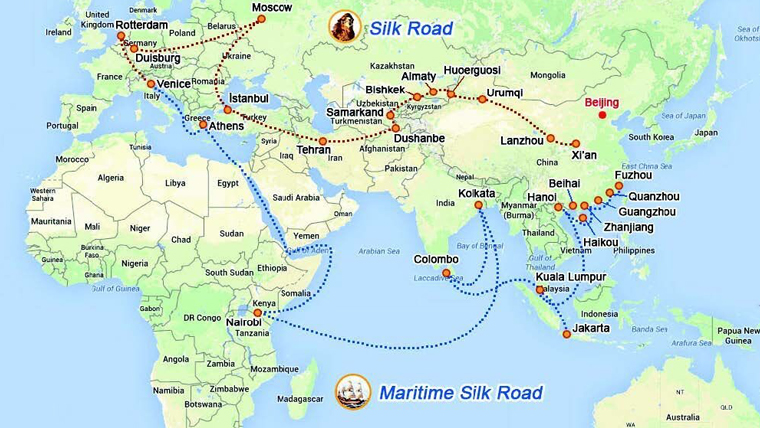 Figure 1: 21st Century Silk Roads