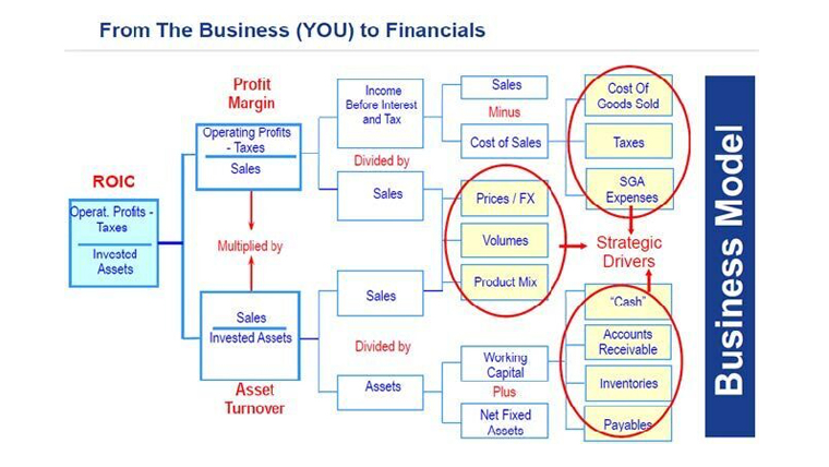 Figure 3: From the business (YOU) to Financials