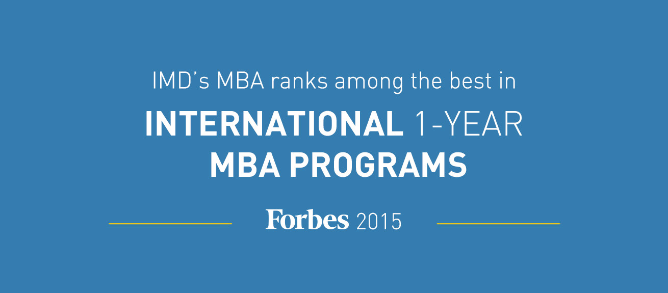 IMD's MBA ranks among the best